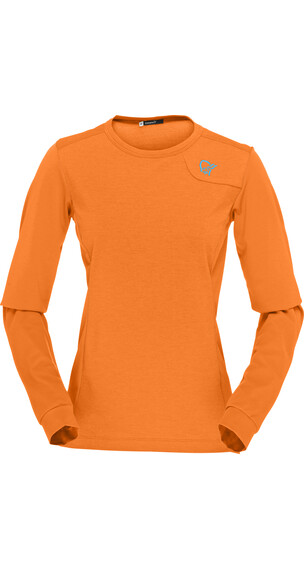 Norrøna W's Fjørå Equaliser Lightweight Long Sleeve Pure Orange